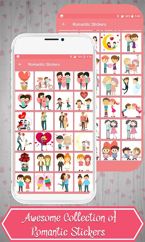 Android Love Stickers Screen 1