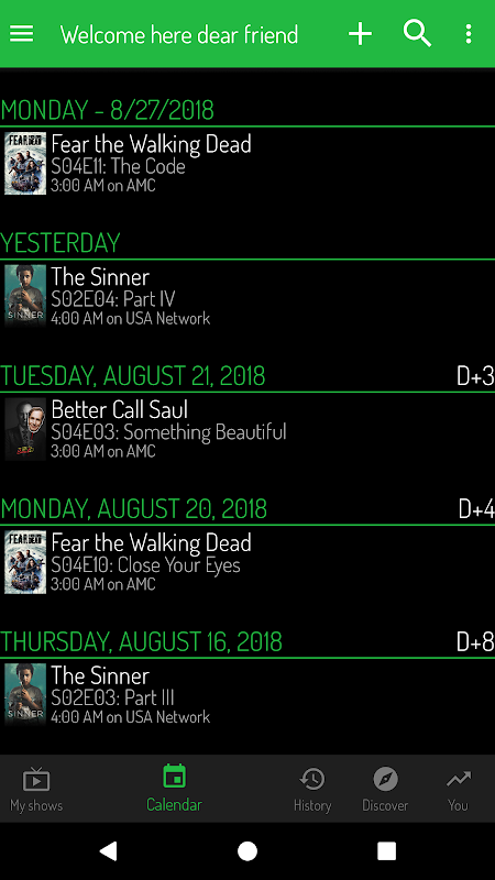 TV Show Tracker - Trakt client 1.0.202 Screen 2
