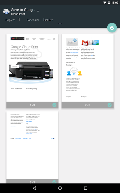 Android Cloud Print Screen 11