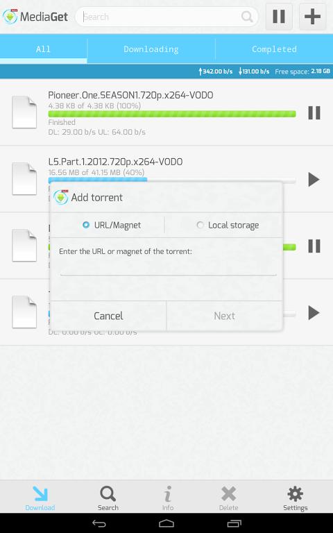 MediaGet 0.9.1 Screen 3