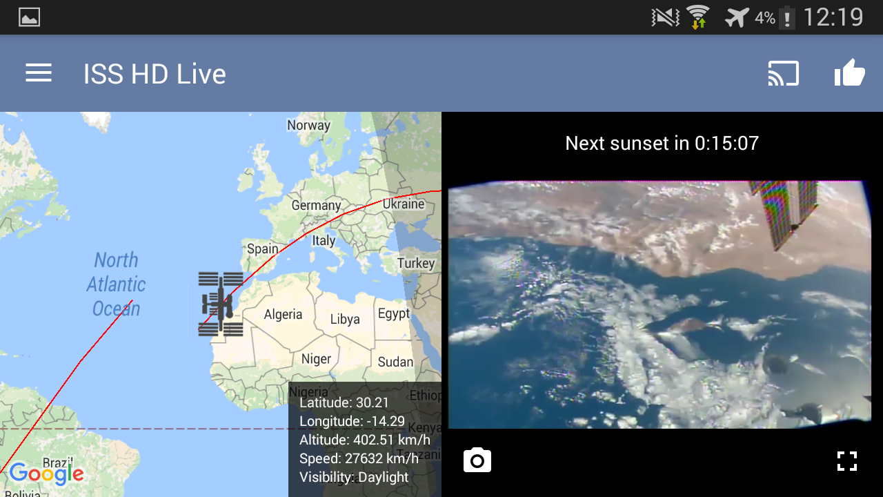 ISS HD Live: View Earth Live 5.4.3 Screen 14