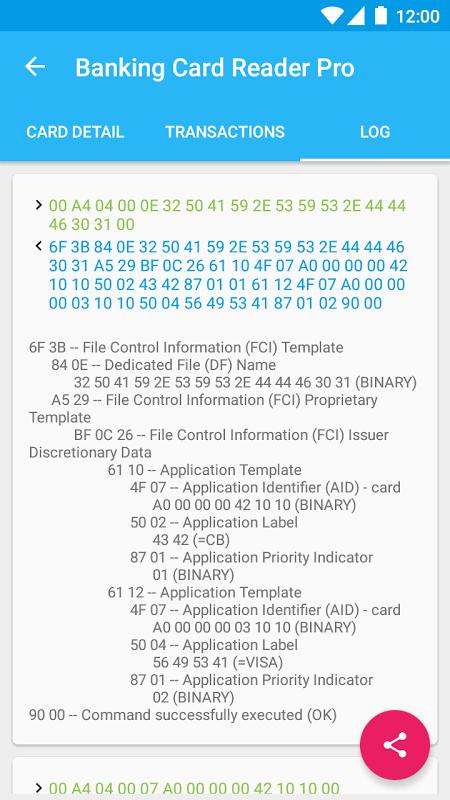 Pro Credit Card Reader NFC 4.2.5 Screen 3