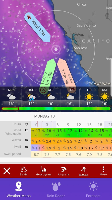 Android RAIN RADAR PRO - Animated Weather Forecasts & Maps Screen 2