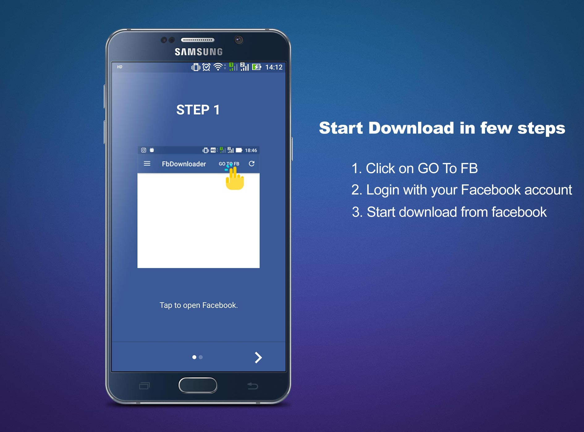 Android Video Downloader for Facebook Screen 2