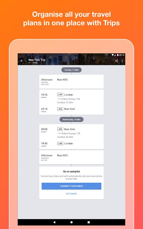 KAYAK flights, hotels & cars 73.1 Screen 8
