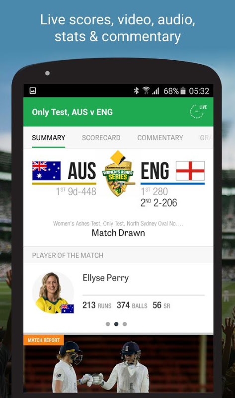 Android Cricket Australia Live Screen 8