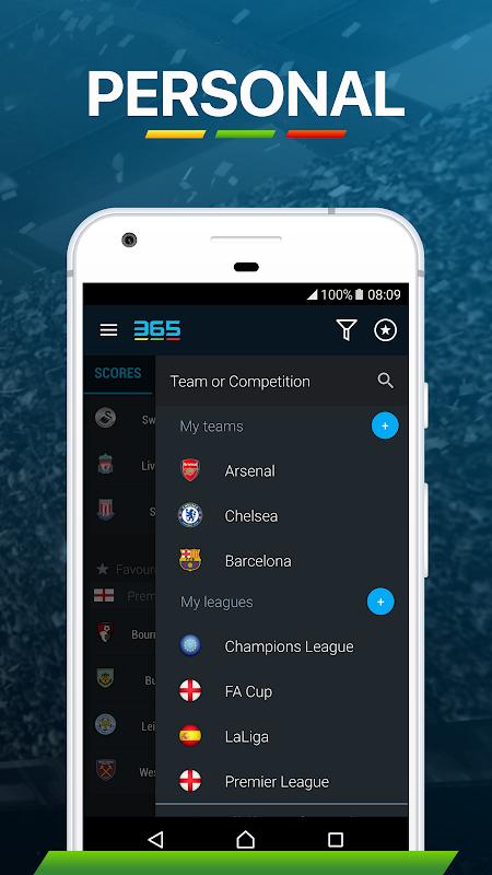365Scores: Sports Scores Live 5.1.3 Screen 11