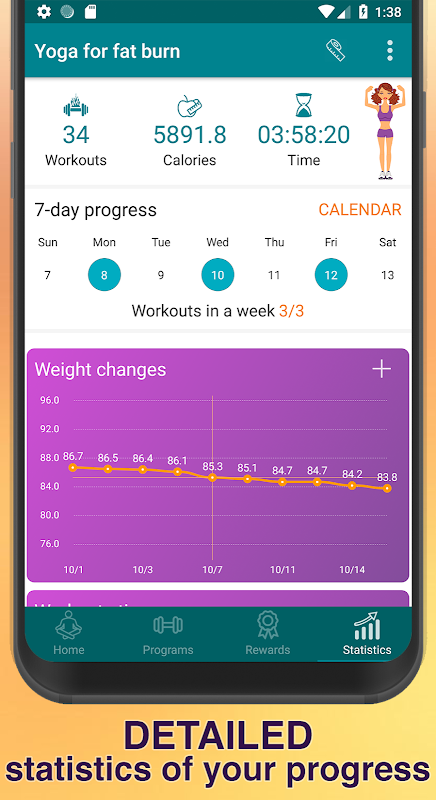 Yoga for weight loss - lose weight program at home 2 2 APK Download