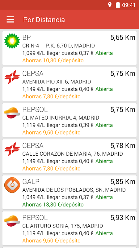 Gasolineras España 3.5.6 Screen 3