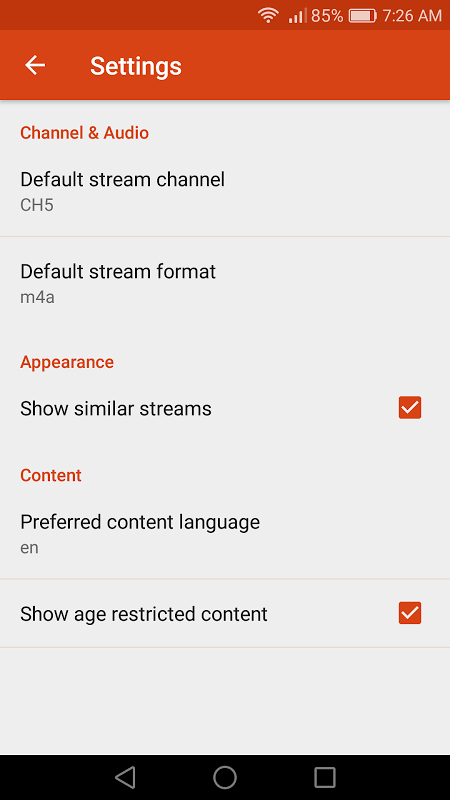 Android ro.zesoft.streamer Screen 3