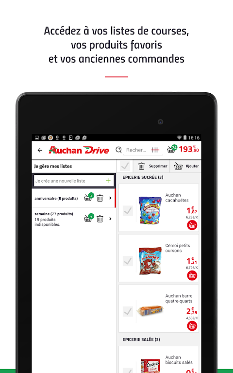 Android AuchanDrive - courses drive Screen 18