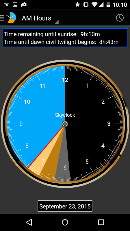 Android Skyclock Screen 4
