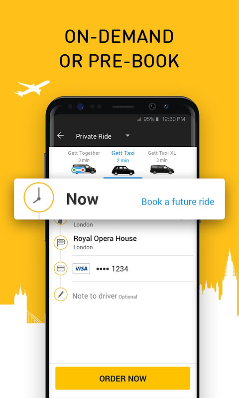 Android Gett - The Best Black Cabs Screen 3