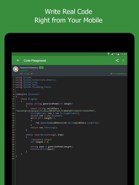 Android SoloLearn: Learn to Code for Free Screen 7