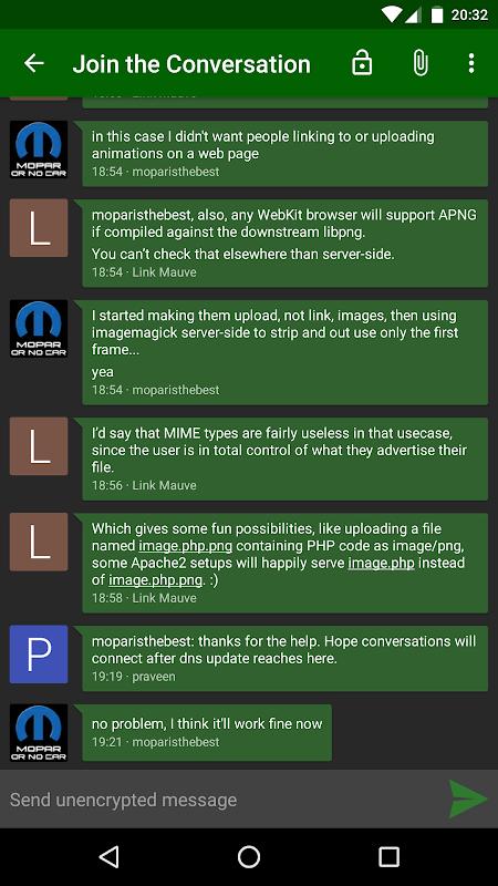 Android Conversations (Jabber / XMPP) Screen 4