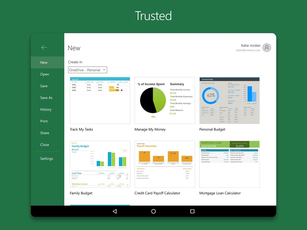 Android Microsoft Excel Screen 6