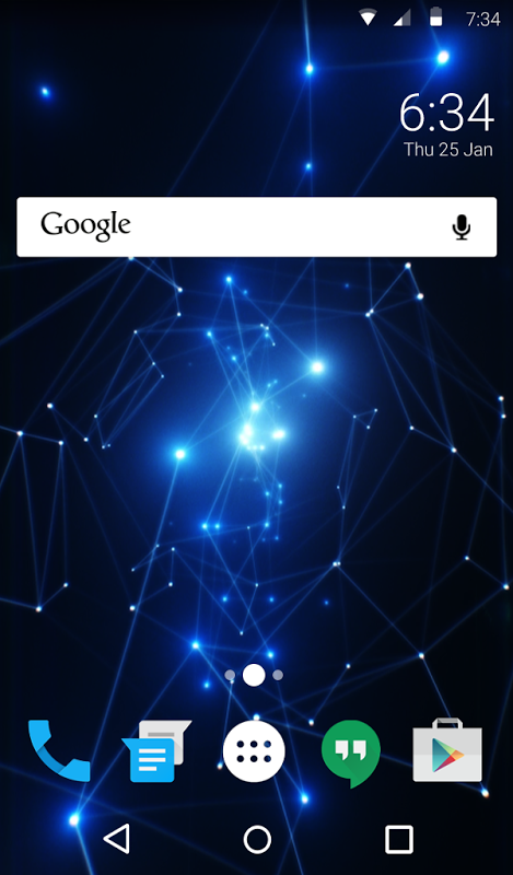 Android Blue Light Animated Keyboard Screen 5
