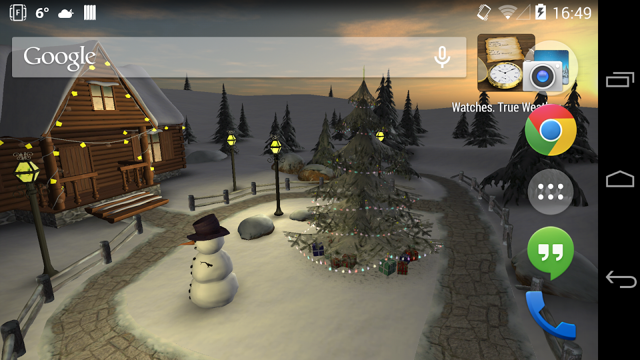 Android Winter 3D, True Weather Screen 3