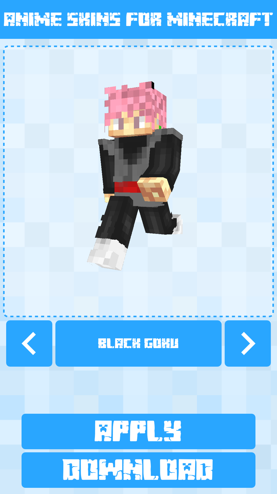 Android Anime Skins for Minecraft PE Screen 4