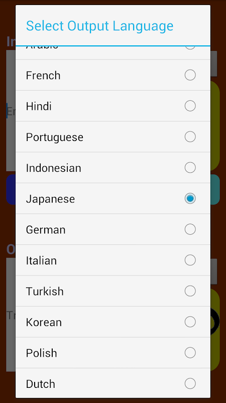 Android Translator Screen 4