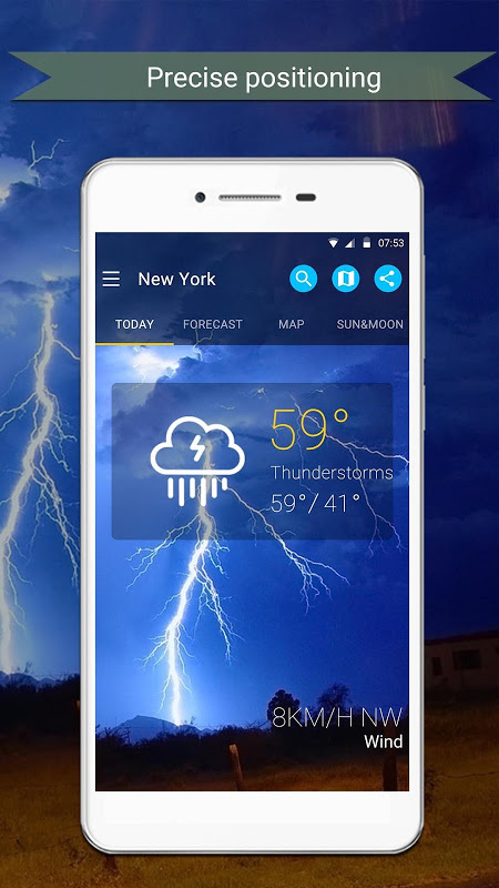 Android Weather Screen 2