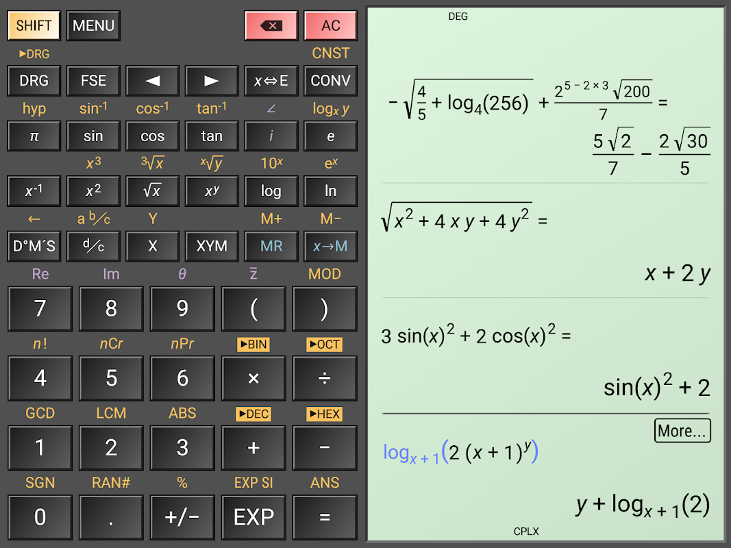 Android HiPER Calc Pro Screen 11