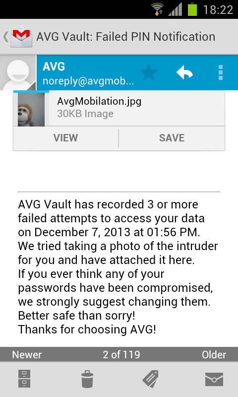Android AVG Vault Screen 13