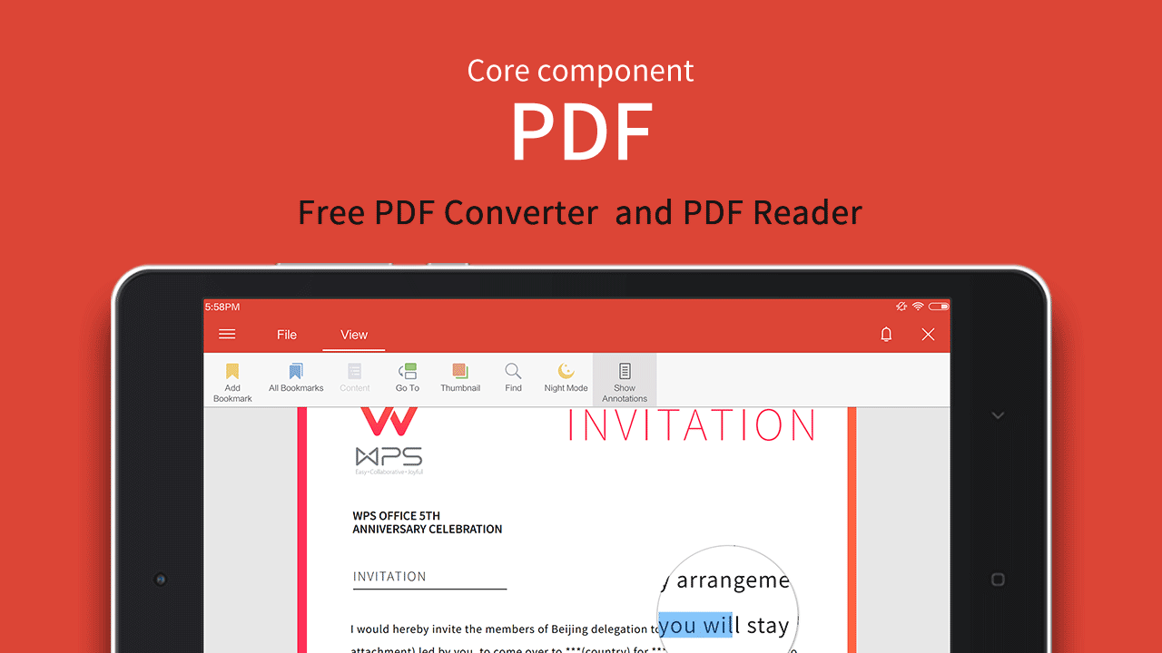 Android WPS Office + PDF Screen 10