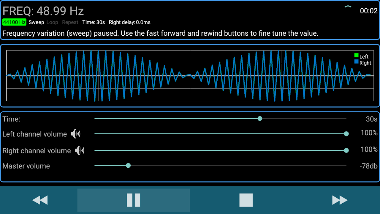 Sound Test for Android TV 1.1 Screen 1