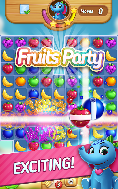Android Fruits Mania : Elly's travel Screen 2