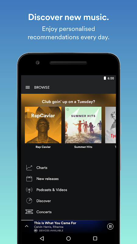 Android Spotify Music Screen 2