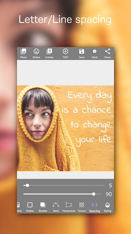 Add Text on Photo: Graphic Design with 800+ Fonts 4.2.1 Screen 6