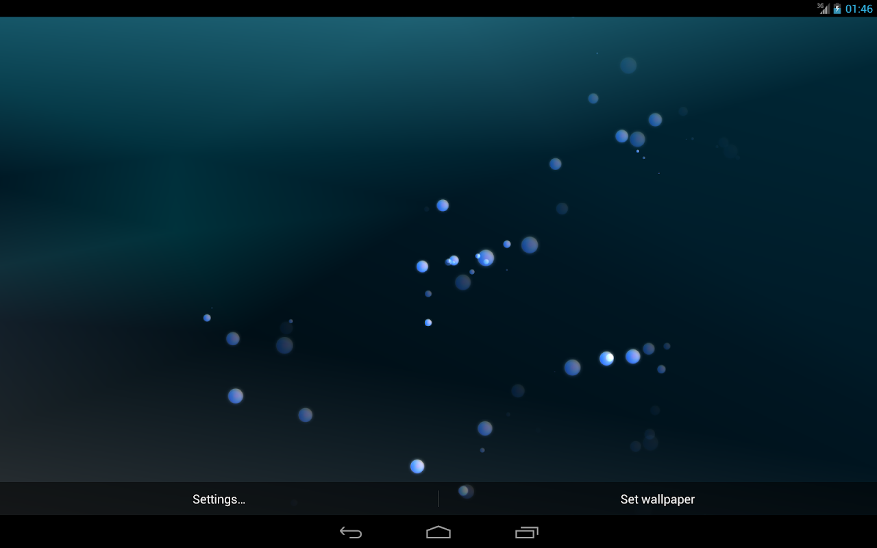 Android CKLabs Bubbles LWP Screen 2