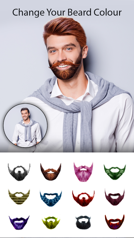 Man Photo Editor : Man Hair style ,mustache ,suit 1.2 Screen 1