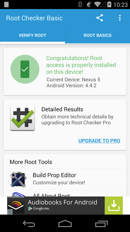 Root Checker Basic 5.8.7 Screen 5