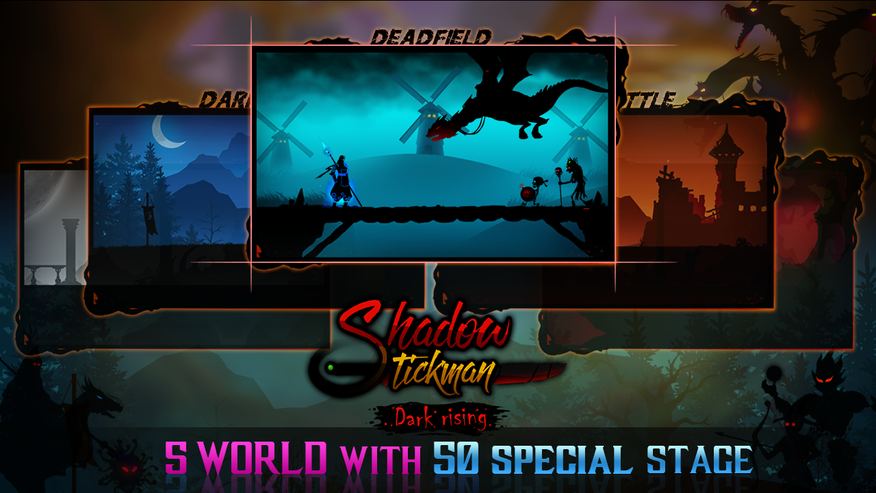 Android Shadow Stickman: Dark rising – Ninja warriors Screen 2