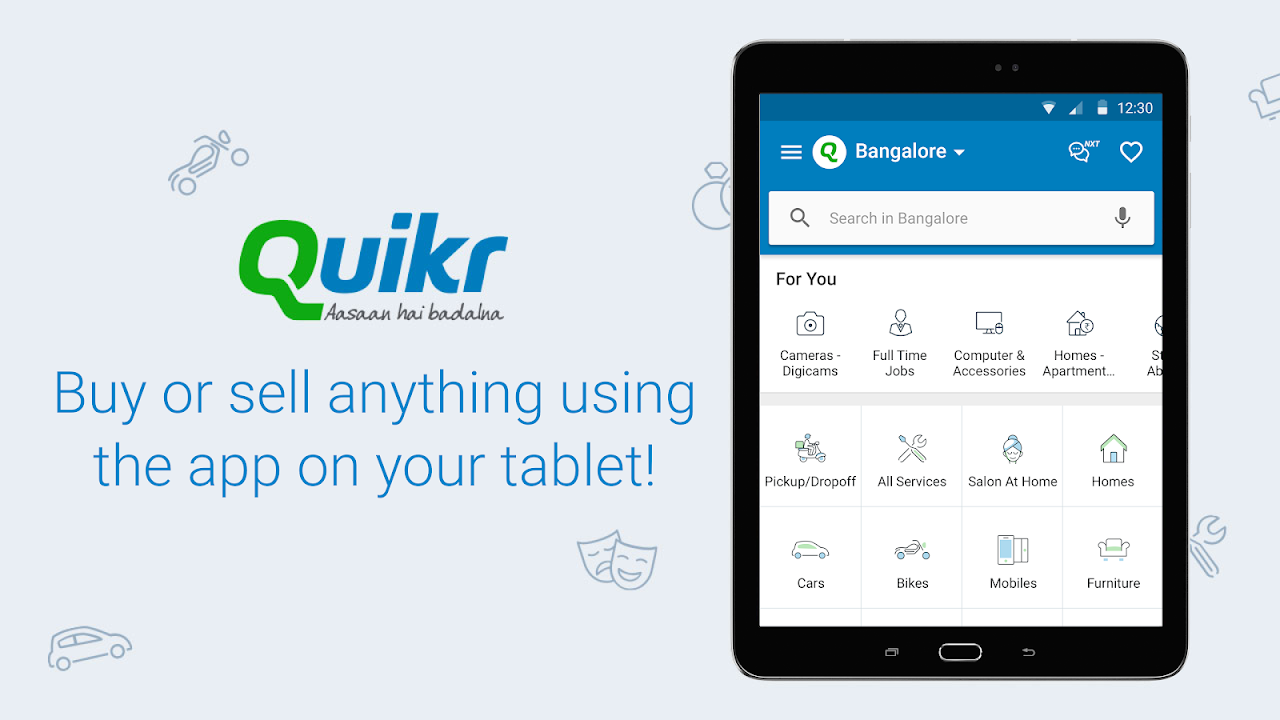 Android Quikr – Search Jobs, Mobiles, Cars, Home Services Screen 8