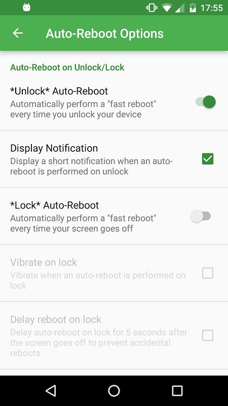 Fast Reboot Pro 5.2 Screen 2