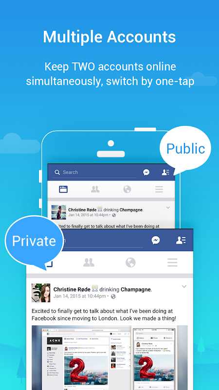 Parallel Space - Multiple accounts & Two face 4.0.8725 Screen 3