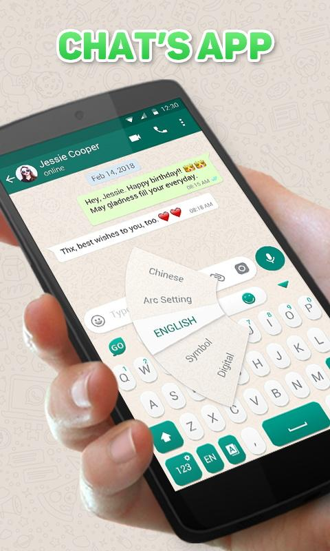 GO Keyboard Theme for Chat's App 4.5 Screen 1