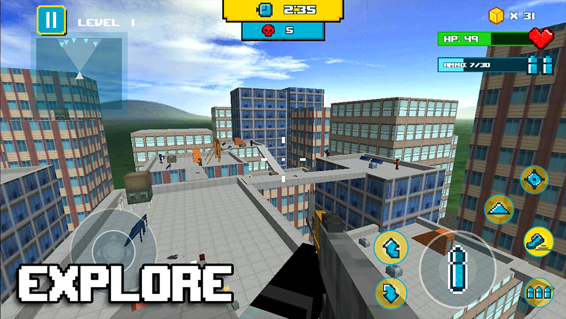 Android Block City Clan Wars Screen 2