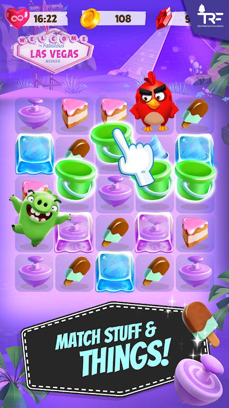 Android Angry Birds Match Screen 1