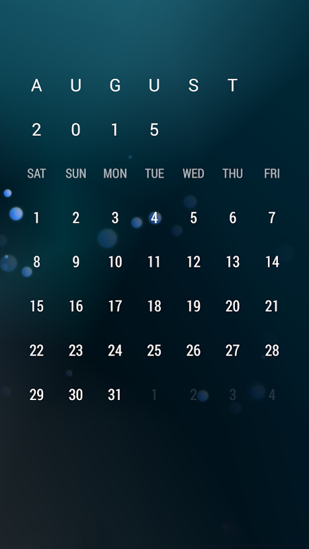 Android Calendar Widget: Month Screen 4