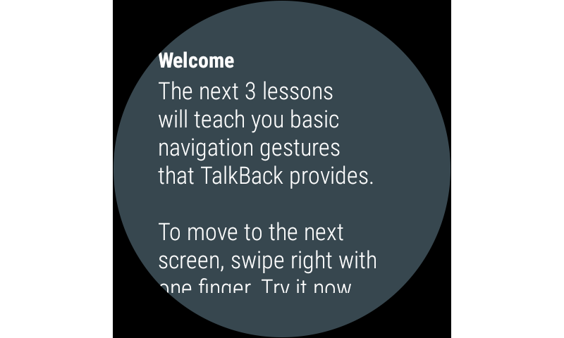 Android Google TalkBack Screen 3