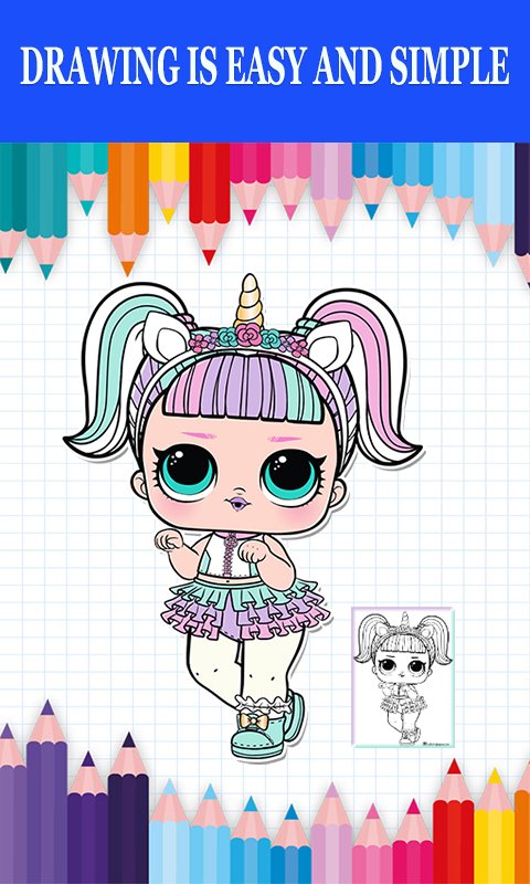 Android Surprise Coloring Book LOL Dolls Screen 2