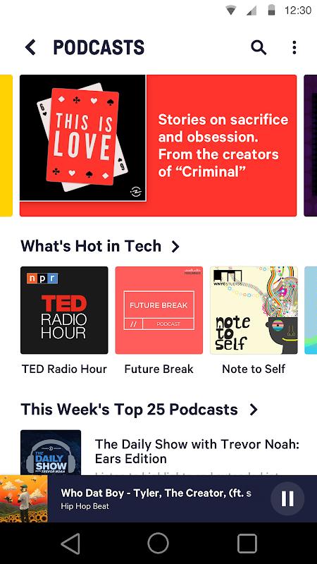 Android TuneIn Radio Screen 3