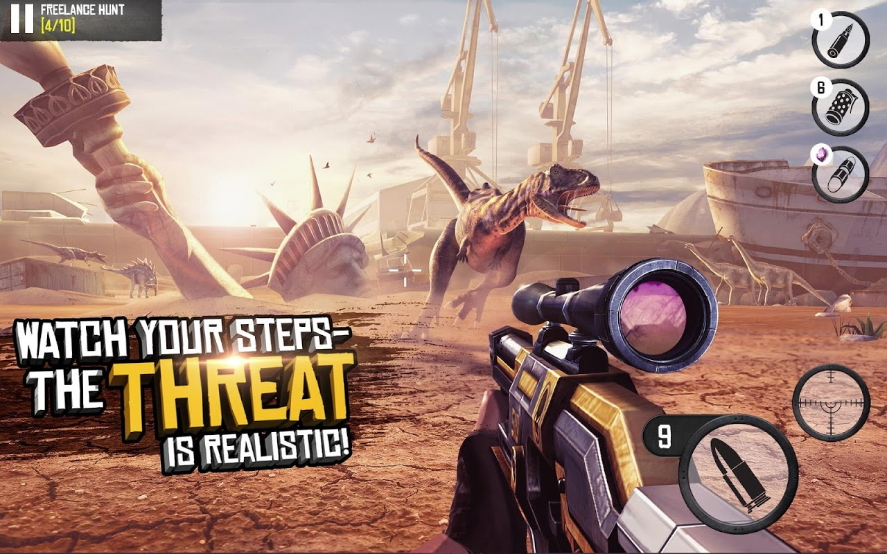 Android Best Sniper Legacy: Dino Hunt & Shooter 3D Screen 4