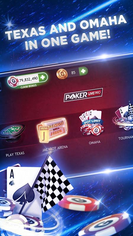 Poker Texas Holdem Live Pro 6.3.1 Screen 1