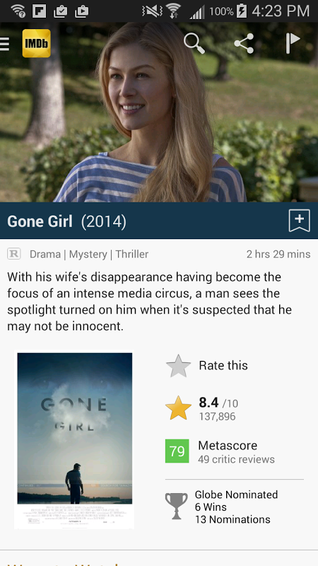 Android IMDb Movies & TV Screen 13