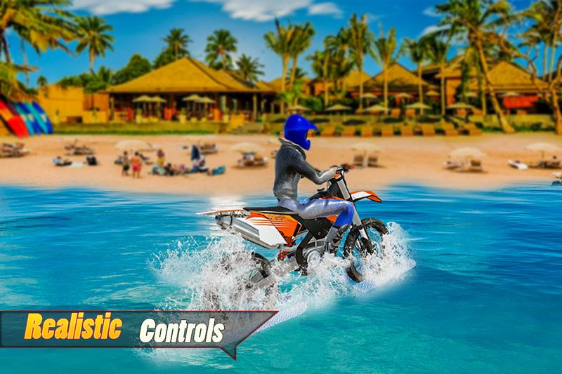 Android Water Surfing Bike Racing Screen 1